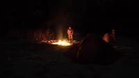 Shining rock campfire