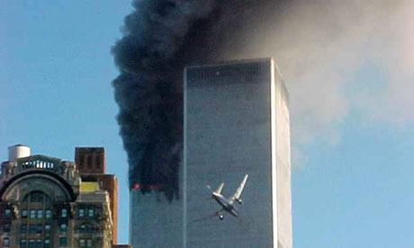 Plane flying into WTC