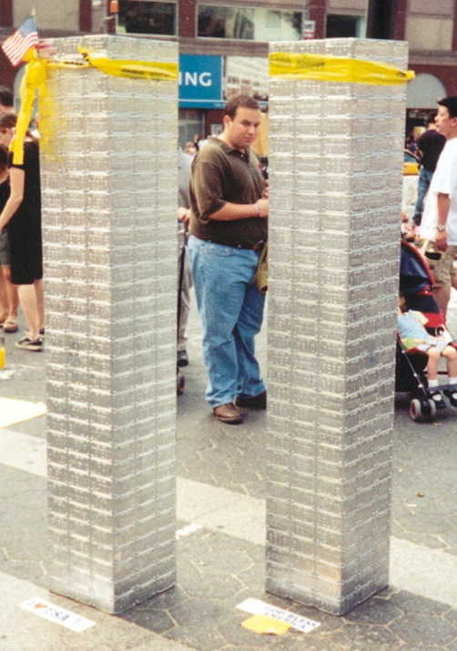 WTC made from license plates