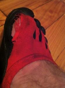 big toe torn on Vibram Sprints