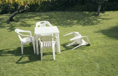Lawn ripped apart by earthquake