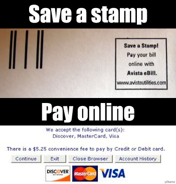 Save a stamp, pay online