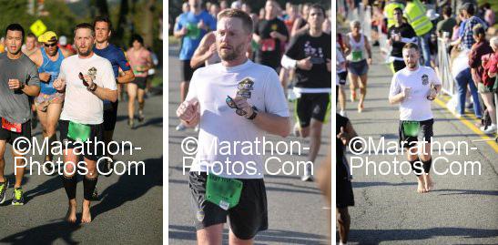barefoot Army Ten Miler runner