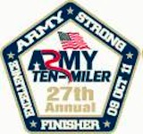 Army Ten Miler coin Front