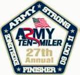 Army Ten Miler coin Front