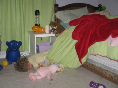 Child falls out of bed