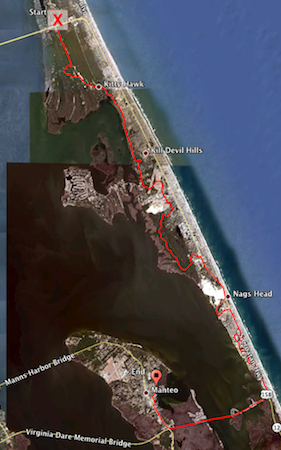 OBX 2011 Course via Garmin and Google Earth