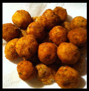 Croquettes are done