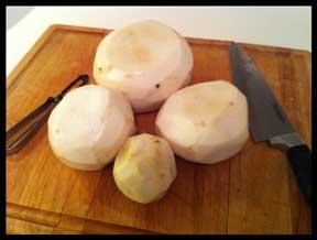 peel turnips