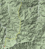 map of Flat Laurel Creek to Cold Mountain trip