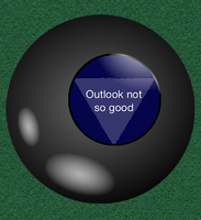 magic 8 ball outlook not so good