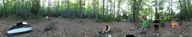 Lost Cove campsite