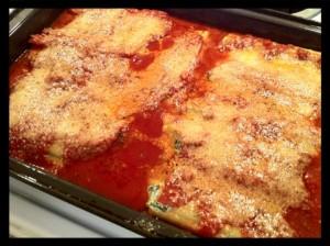 manicotti cooked
