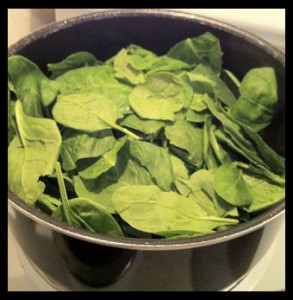 Steam spinach