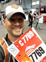 runner with bib from Chicago Marathon