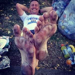 first Barefoot marathon Feat