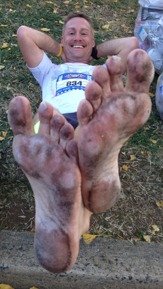 my feet post marathon
