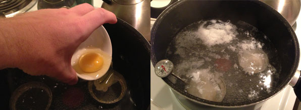 Step 3: Pour the eggs