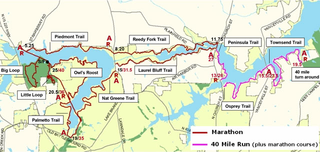 Triple Lakes Ultra course map