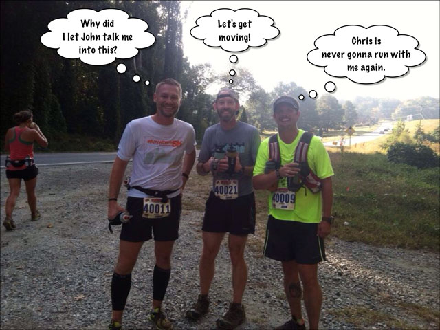 three trail runners