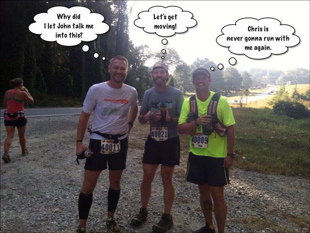 three trail runners