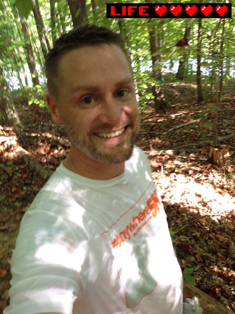 Runner in the woods