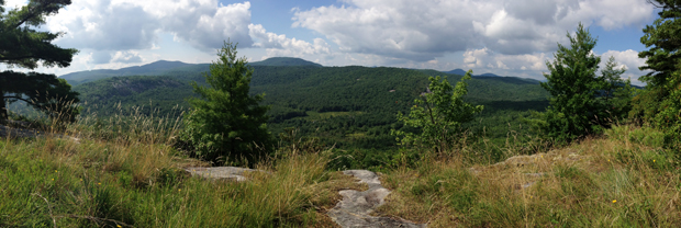 view of Panthertown Valley from Blackrock Mtn