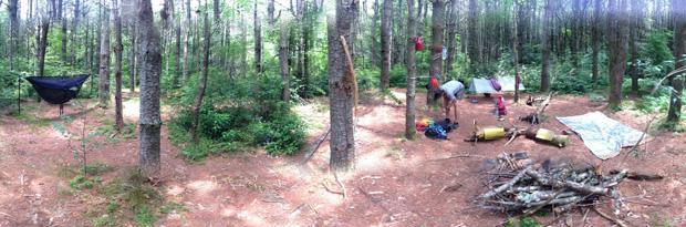 Campsite at Mac's Gap