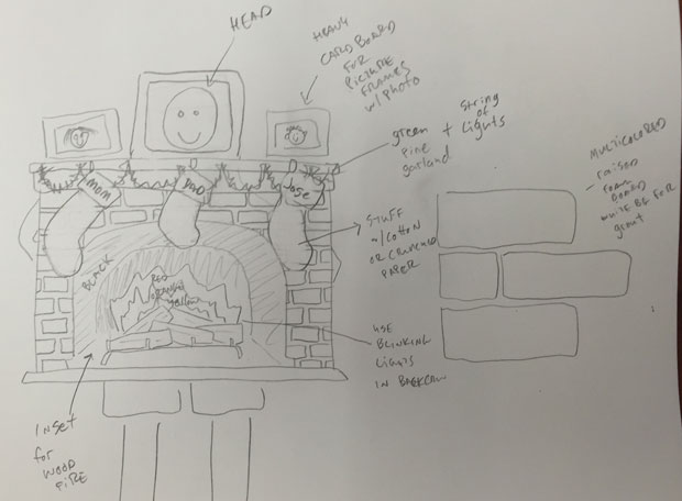 Initial fireplace design
