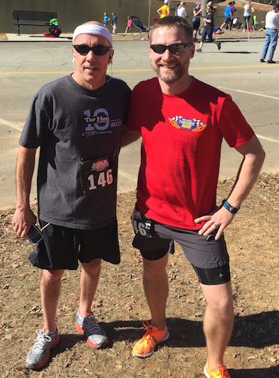 John and me post-race
