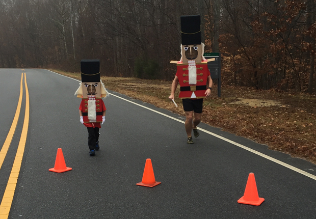 My son and I finish the 1 miler