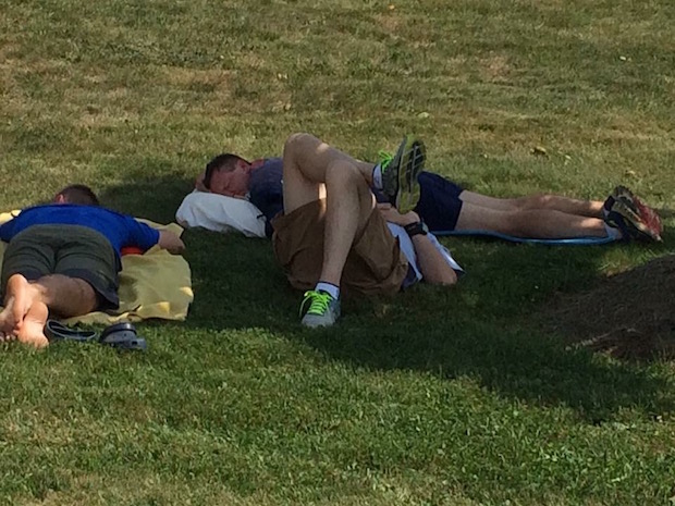 Nap time at EZ12 - Blue Ridge Relay 2016