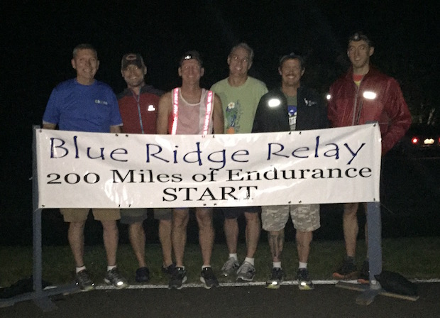 at the Blue Ridge Relay 2016 start line