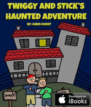 Twiggy and Stick's Haunted Adventure book cover