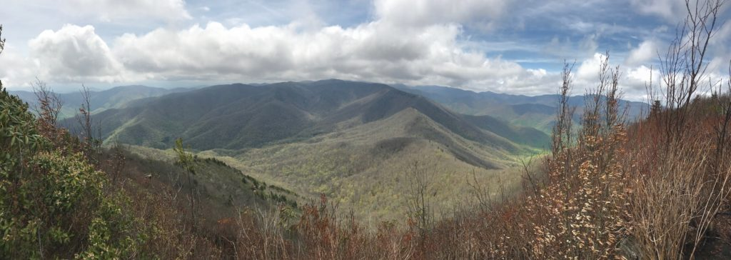 View from the top of Cold Mountain