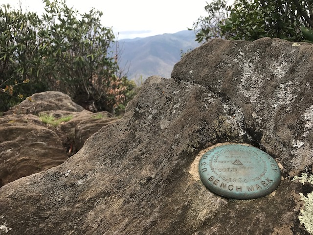 Cold Mountain survey marker