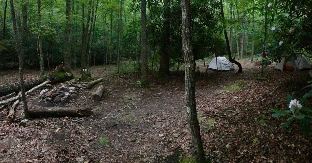 campsite off the AT