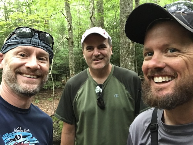 three hikers