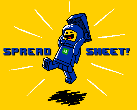 spaceship Benny screams spreadsheet