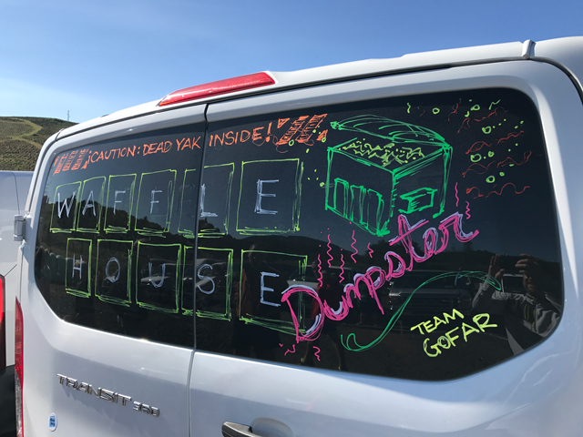 Van 1 drawing of waffle house letters