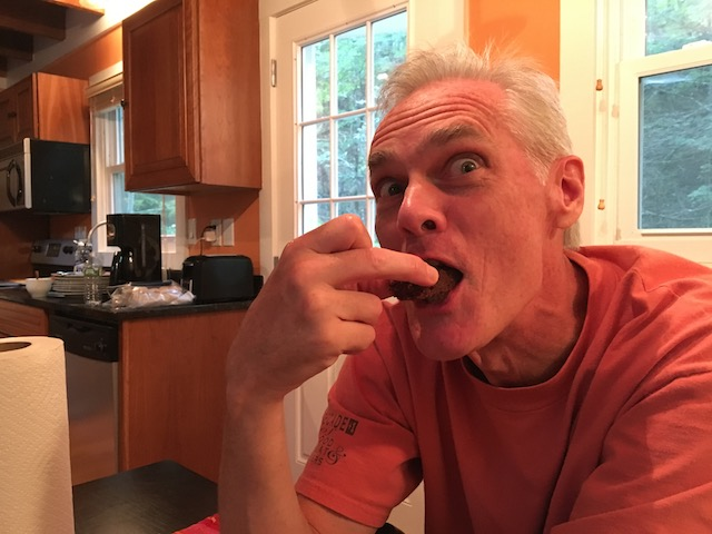 sadistic man eating brownie