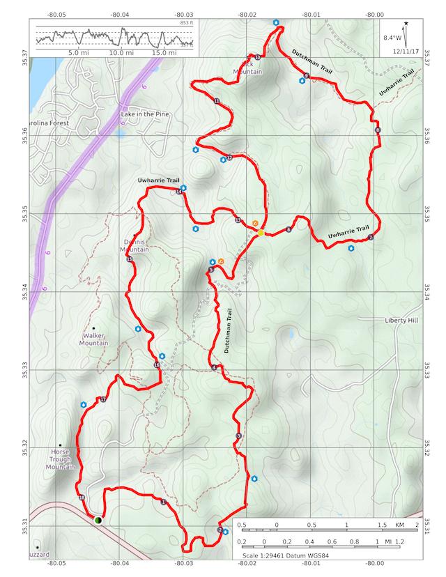 Dutchman's Creek Loop in Uwharrie National Forest